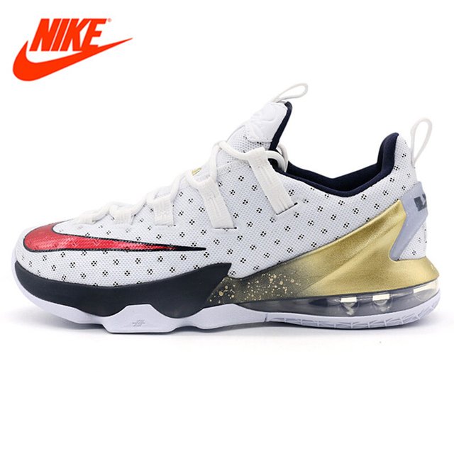 Original New Arrival NIKE Men's High top Breathable Basketball Shoes Sport  Sneakers Authentic Non-slip