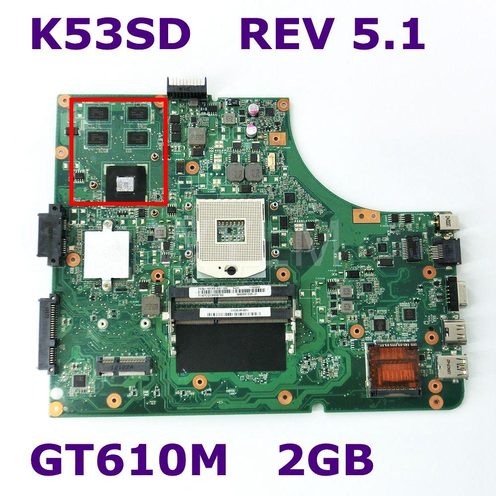 K53SD Con Scheda grafica GT610M 2 GB Scheda Madre REV 5.1 Per Asus K53SD K53S X53S A53S P53S scheda madre del computer portatile DDR3 100% TestatoK53SD Con Scheda grafica GT610M 2 GB Scheda Madre REV 5.1 Per Asus K53SD K53S X53S A53S P53S scheda madre del computer portatile DDR3 100% Testato