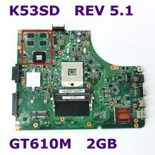 K53SD с Графика карты GT610M 2 Гб материнская плата версия 5,1 для Asus K53SD K53S X53S A53S P53S материнская плата для ноутбука DDR3 100% тестирование