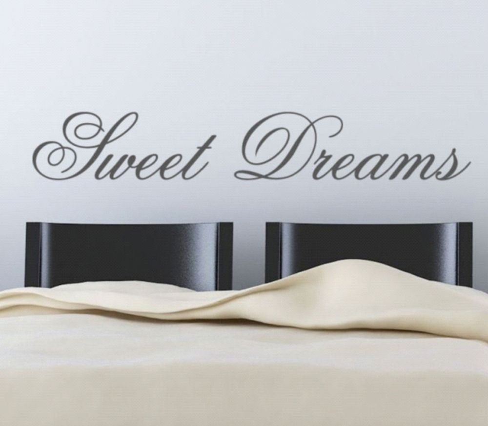 Sweet dreamsadhesive wall paper wall letters decoration for Adhesive wall art letters