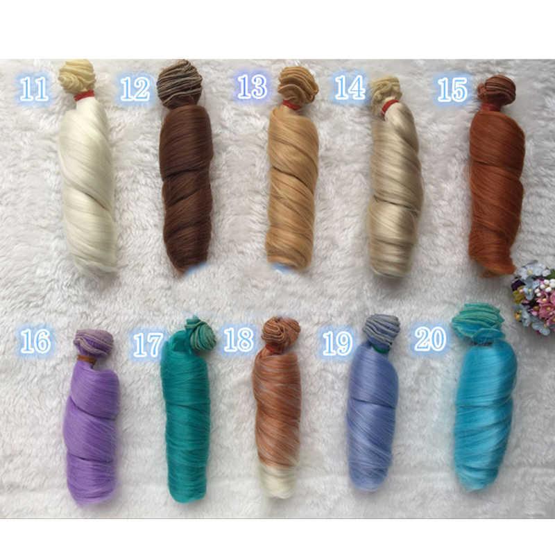 Fashion 15 Cm DIY Mini Rambut Boneka Suhu Tinggi Bahan Lurus Rambut Wig untuk BJD Boneka Sintetis Aksesoris