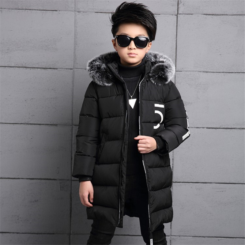 Kids Winter Jackets 2018 Warm Baby Boys Winter Clothing For Boys Outerwear Coat Parkas Children Thicken Cotton-padded Clothes