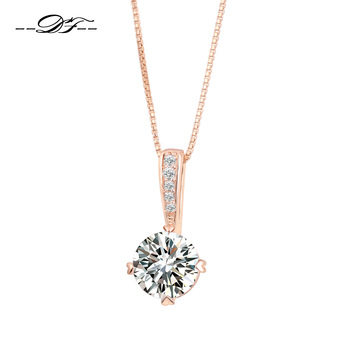 Cubic Zirconia Rose Gold Chain Necklaces 1