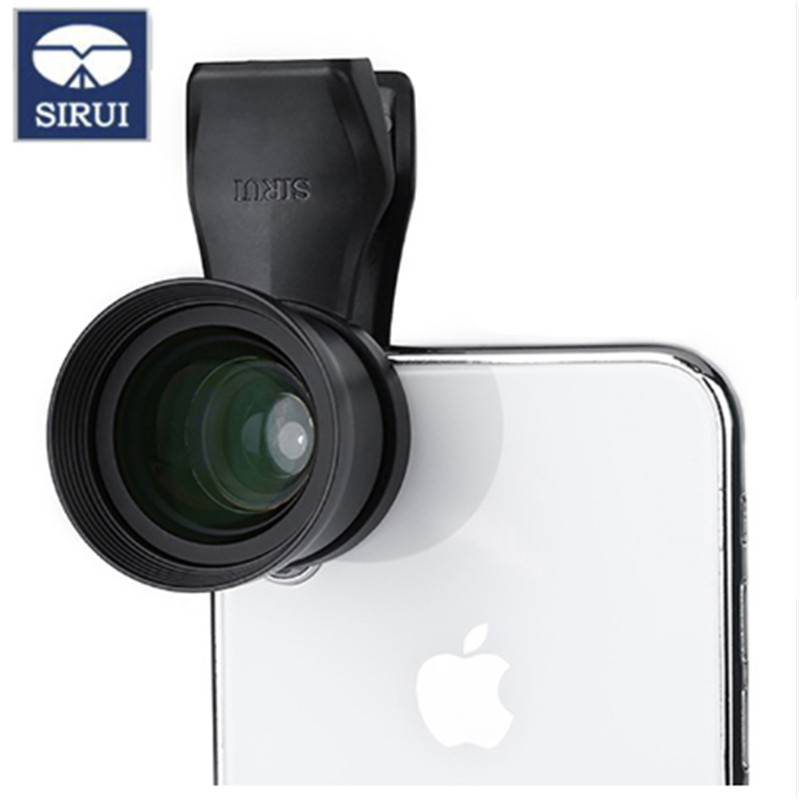 SIRUI 18mm Wide Angle Phone Lens Clip-On Lens HD 4K Housing Camera Lens for iPhone XS X One Plus Samsung S9 S8 Huawei MobileSIRUI 18mm Wide Angle Phone Lens Clip-On Lens HD 4K Housing Camera Lens for iPhone XS X One Plus Samsung S9 S8 Huawei Mobile