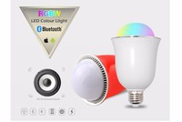 20pcs/lot Smart RGB Wireless Bluetooth Speaker Bulb Music Playing E27 LED Lighting AC85 265V For Home Decorating