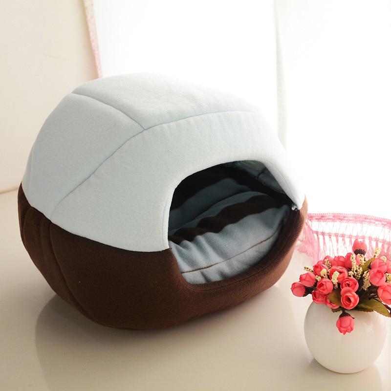 Fine joie New Pet Maisons Yourtes Chaud 2 En 1 Utilisation chat Chien de Couchage Canapés Plier En Mesure Hiver Teddy Chiot Chenils pour animaux