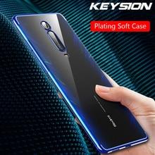 KEYSION Phone Case For Xiaomi Redmi K20 Mi 9T Pro Mi 9 SE Ultra Thin Clear Plating TPU Back Cover For Redmi K20 Pro Note 7 Pro keysion gradient tempered glass case for redmi k20 note 7 pro colorful glass soft tpu edge back cover for xiaomi mi 9t pro f1