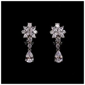 Image 3 - 2 pçs flor coroa conjunto acessório do casamento na moda zircon tiara colar strass coroa para noiva casamento pageant coroas