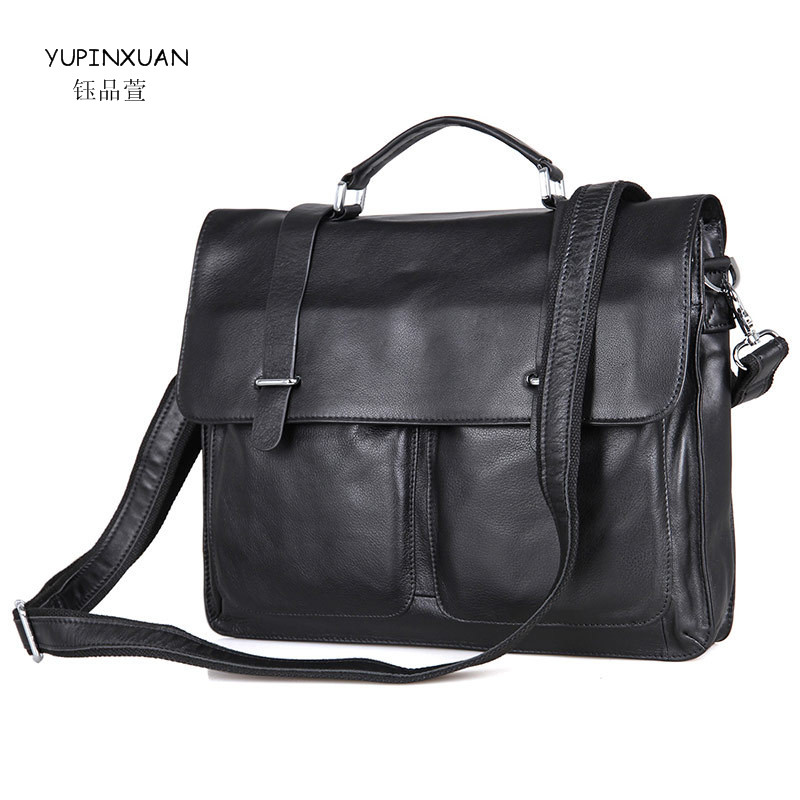 YUPINXUAN Vintage Business Men Briefcases 15 Laptop Bag Genuine Leather Man Handbags Real Leather Bolsa Maleta Lawyer Briefcase 2018 new sexy lingerie hot black lace perspective women teddy lingerie cosplay cat uniform sexy erotic lingerie sexy costumes