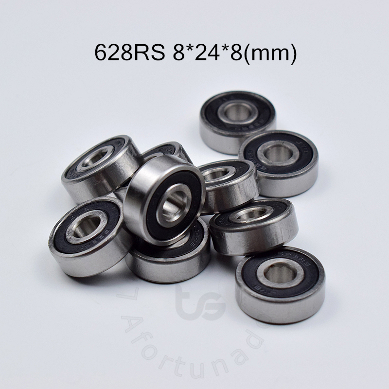 628RS 8*24*8(mm) 10pieces bearing ABEC-5 bearings rubber Sealed Bearing 628 628RSchrome steel deep groove bearing image