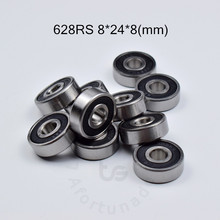 628rs 8*24*8 (mm) 10 peças que carregam ABEC-5 rolamentos rolamento selado de borracha 628 628 rolamento profundo do sulco do aço de rschrome