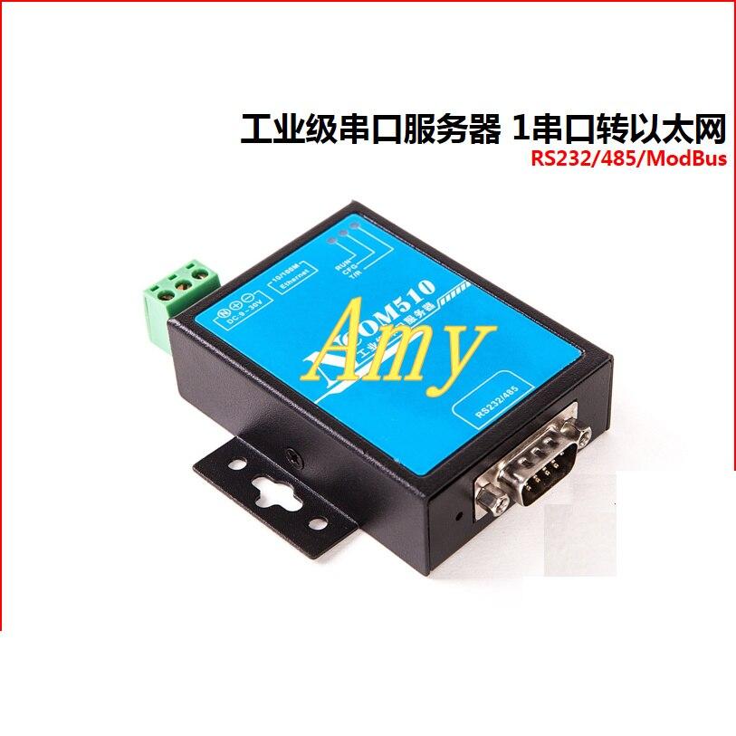 Ethernet industriel de commutateur du serveur série RS232/485 d'ipcsun pour prendre en charge le protocole NCOM510 de Modbus