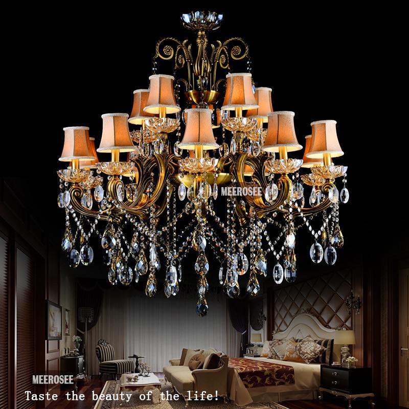 VROČE! Veliki kristalni lestenec svetilka starinska medenina Velika - Notranja razsvetljava - Fotografija 6