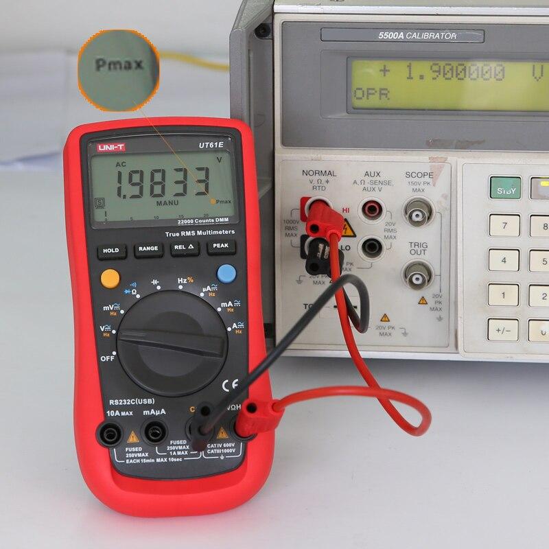 UNI T UT61E multímetro Digital de alta fiabilidad el ordenador conecta el modo de voltaje de CA CC 22000 cuenta de retención de datos - 2