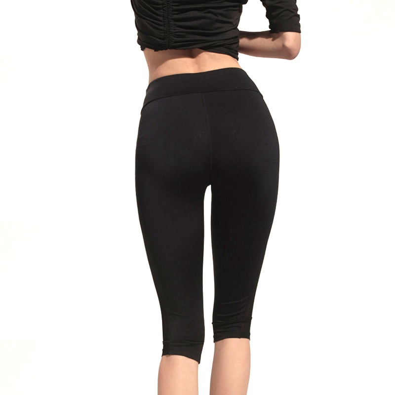 Capri Sportlegging.Womens Work Out Cropped Mesh Capri Leggings Athleisure Women Short