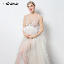 1e4c4338e45 Melario Maternity dress 2019 Maternity Photography Props Maternity  Embroidery Dress Sleeveless Lace Summer Pregnant Dress