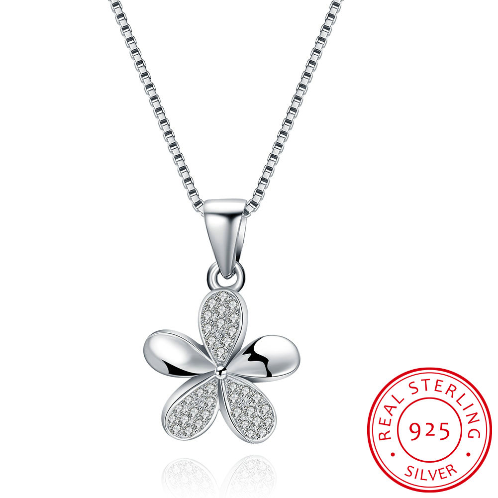 Aliexpress Friday Deals Hot Flower 925 Silver Necklace Charms Pendulum Chain Pendants Jewelry Accessories Making Precious Black