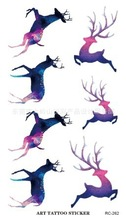 Body Art Beauty Makeup Pink Sexy Deer Waterproof Temporary Tattoo Stickers Sexy