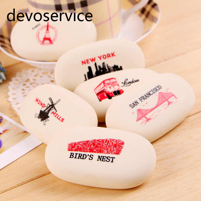 Colorful Stone Eraser Geese In Soft Stone Style Pencil Eraser For Student Learning Stationery Office School Supplies Kids Gifts