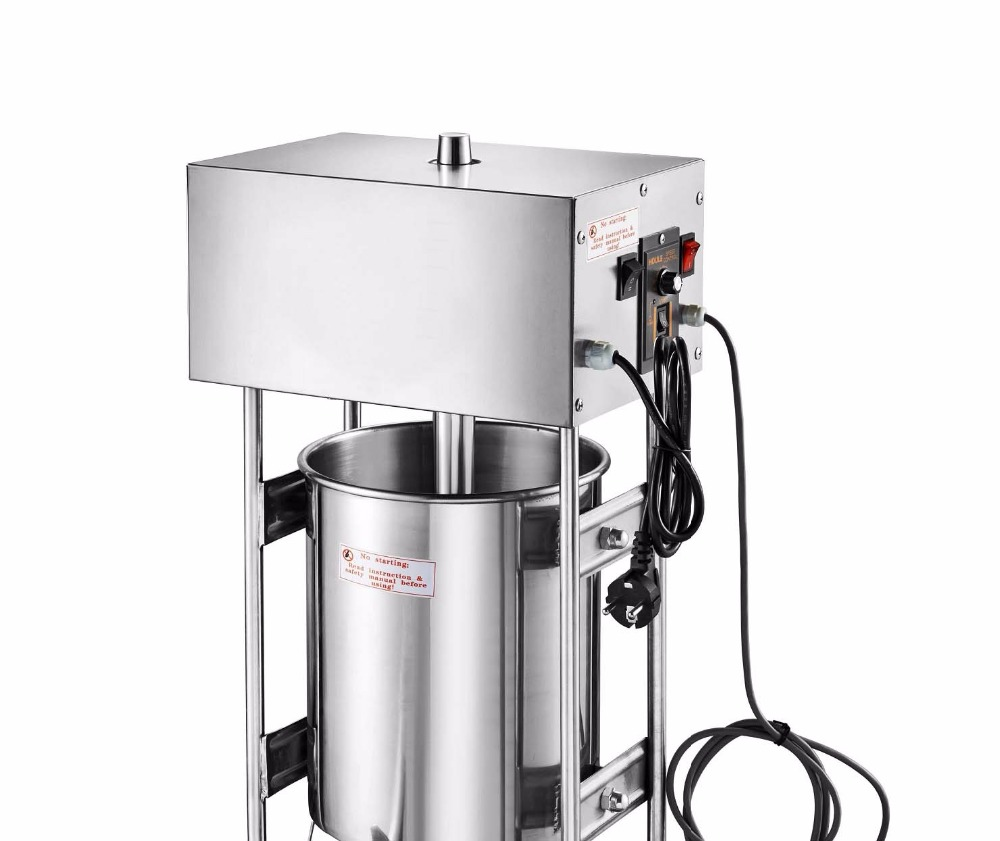 10L Capacity Commercial Use 110v 220v Electric Auto Spanish Churro Maker Machine Baker, churros machine, sausage filling machine 12l automatic churros machine maker spanish snacks latin fruit machine