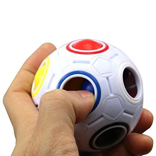 Us 5 79 39 Off Spharische Cube Regenbogen Fussball Magic Speed Spielzeug 11 Farbe Puzzle Spielzeug Cube Kinder Padagogisches Spielzeug Anti Stress In