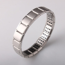 Fashion Stainless Steel Watchband Men Charm Bracelet Punk Jewelry Magnet Germanium font b Health b font
