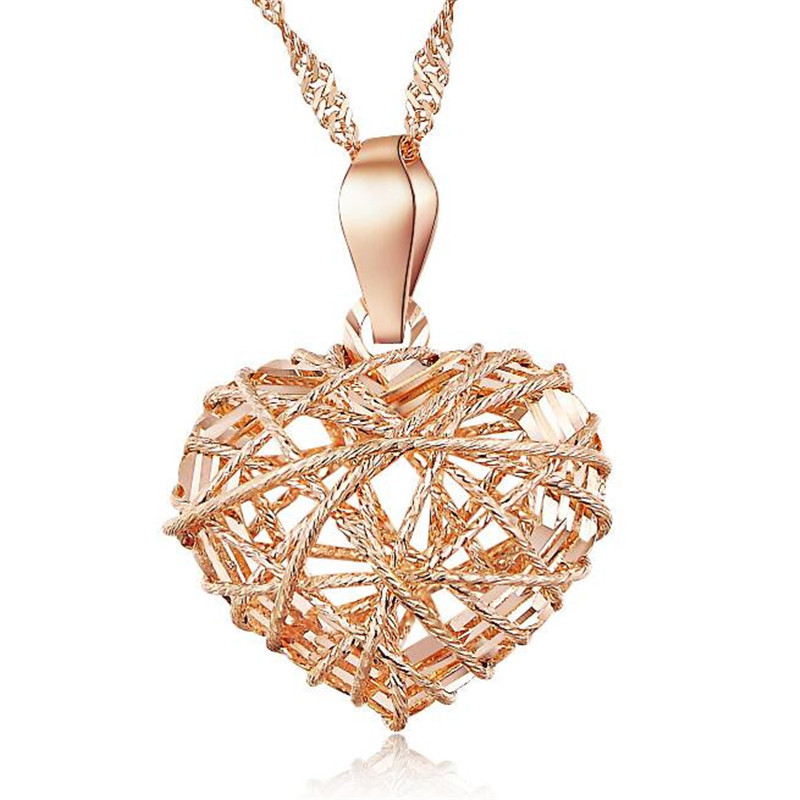 Wholesale Drop Shipping Fashion 18K Gold AU750 Jewelry Elegant Charm Retro Exquisite Hollow Heart Necklace Pendant 11.50mm*14.00Wholesale Drop Shipping Fashion 18K Gold AU750 Jewelry Elegant Charm Retro Exquisite Hollow Heart Necklace Pendant 11.50mm*14.00