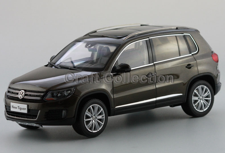 *Brown 1:18 Volkswagen VW Tiguan 2013 Diecast Model Car Classical SUV Collection Off Road Vehicle car rear trunk security shield cargo cover for volkswagen vw tiguan 2016 2017 2018 high qualit black beige auto accessories