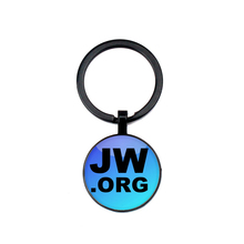 Fashion Jehovah Witness Keychain Glass Pendant Time Gem Bible KeyRing JW.ORG Handmade Photo Personality Gifts Men and Women love