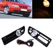 POSSBAY передние противотуманные свет лампы Нижняя решетка автомобиль день ходовые огни Автогонки грили для 1999/2000/2001-2007 VW Bora Jetta MK4