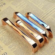 3.75 5.0 Glass Dresser Pulls Drawer Handles Knobs Chrome Amber Blue Gold Crystal Kitchen Cabinet Door Handle Pull