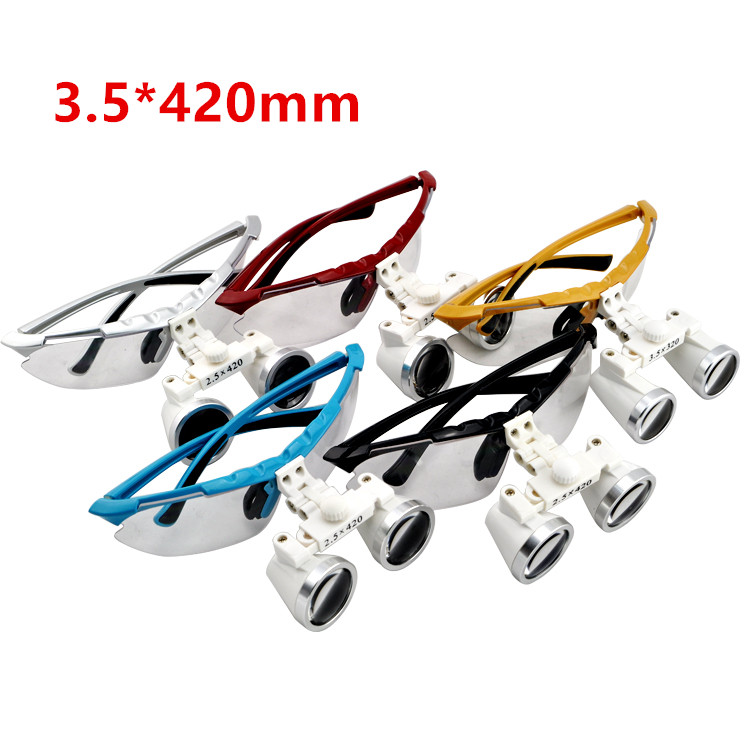 Dentist Dental Surgical Medical Binocular Loupes 3.5X 420mm Optical Glass Loupe 5 Colors for ChooseDentist Dental Surgical Medical Binocular Loupes 3.5X 420mm Optical Glass Loupe 5 Colors for Choose