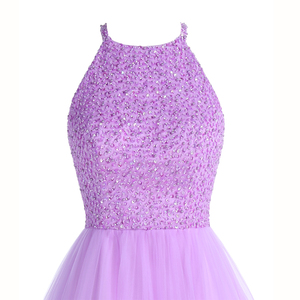 Image 4 - ANGELSBRIDEP Short Lilac Homecoming Dresses 2020 Mini Beading Homecoming Dress Open Back Short Graduation Dresses Party Gowns