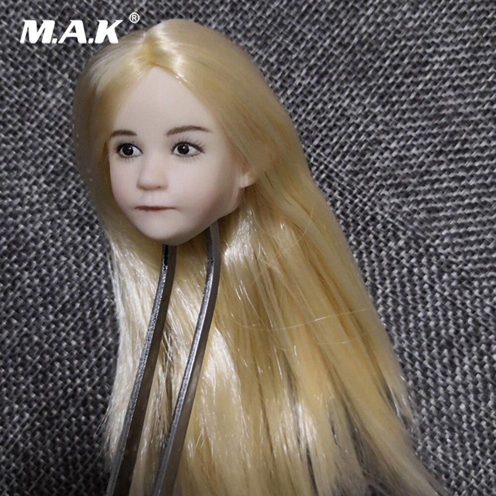 1/6 Vrouwelijke Hoofd Beeldhouwen Accessoire Mooie Kind Meisje Head Sculpt Gesneden Model voor 1:6 Kinderen Action Figure Body-in Actie- & Speelgoedfiguren van Speelgoed & Hobbies op  Groep 1