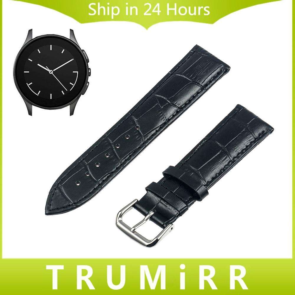 22mm Genuine Leather Watchband for Vector Luna Meridian Smart Watch Band Croco Grain Strap Stainless Steel Clasp Bracelet + Tool lucky john croco spoon big game mission 24гр 004