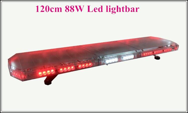 Выше Star 120 см 88 Вт световой индикатор аварийного, стробоскоп lightbar, полиция, скорая помощь, огонь светофор бар, 15 flash, Warerproof