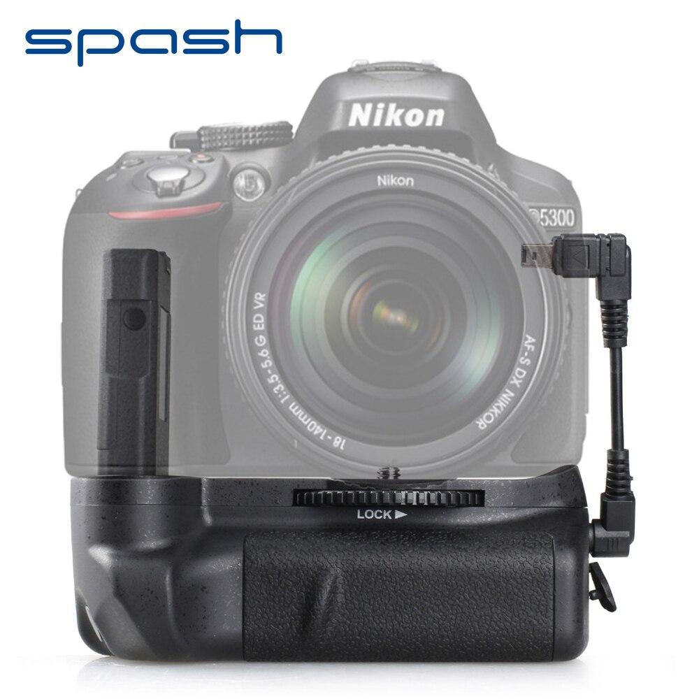 Spash Punho de Bateria Vertical para Nikon D5300 D5200 D5100 DSLR Câmeras Multi-Suporte Da Bateria poder Trabalhar com EN-EL14