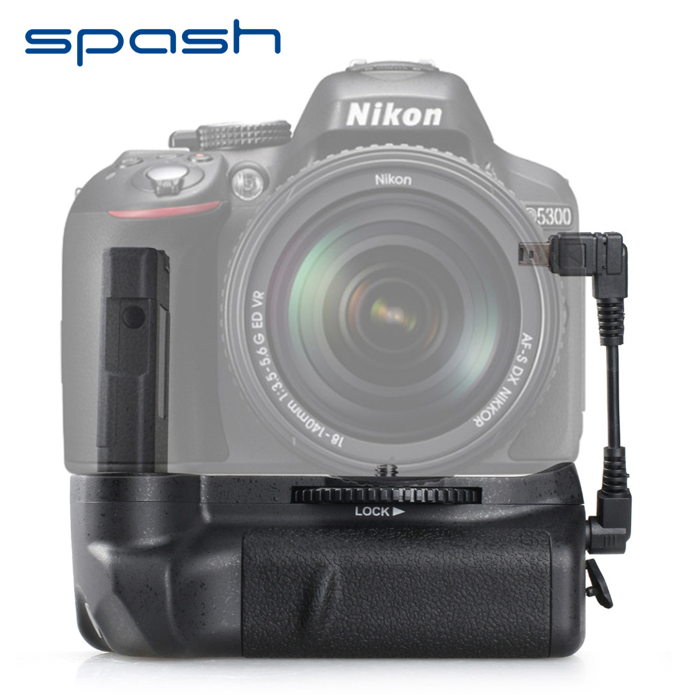 spash Vertical Battery Grip for Nikon D5300 D5200 D5100 DSLR Cameras Multi-power Battery Holder Work with EN-EL14