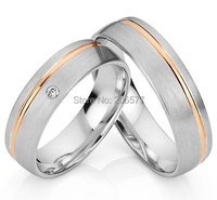 bicolor western rose gold plating health titanium custom egagement ring wedding bands ring sets