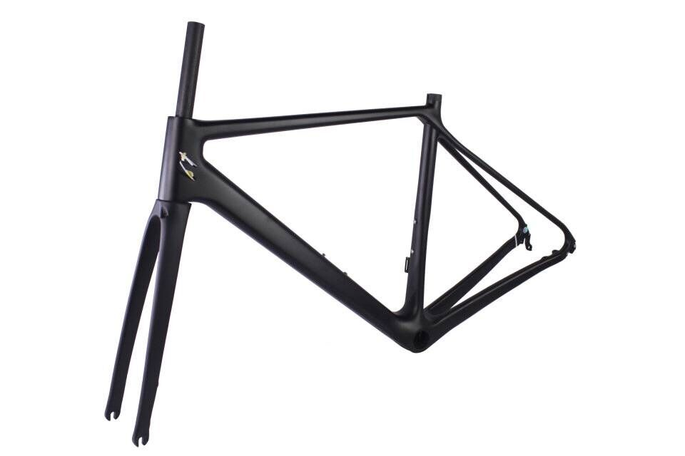 OEM Full Carbon Fiber Road Bike Bicycle Frame With DISK Brake On NEW Brand Logo 46cm,50cm With Fast Shipping FREE DUTY TAX