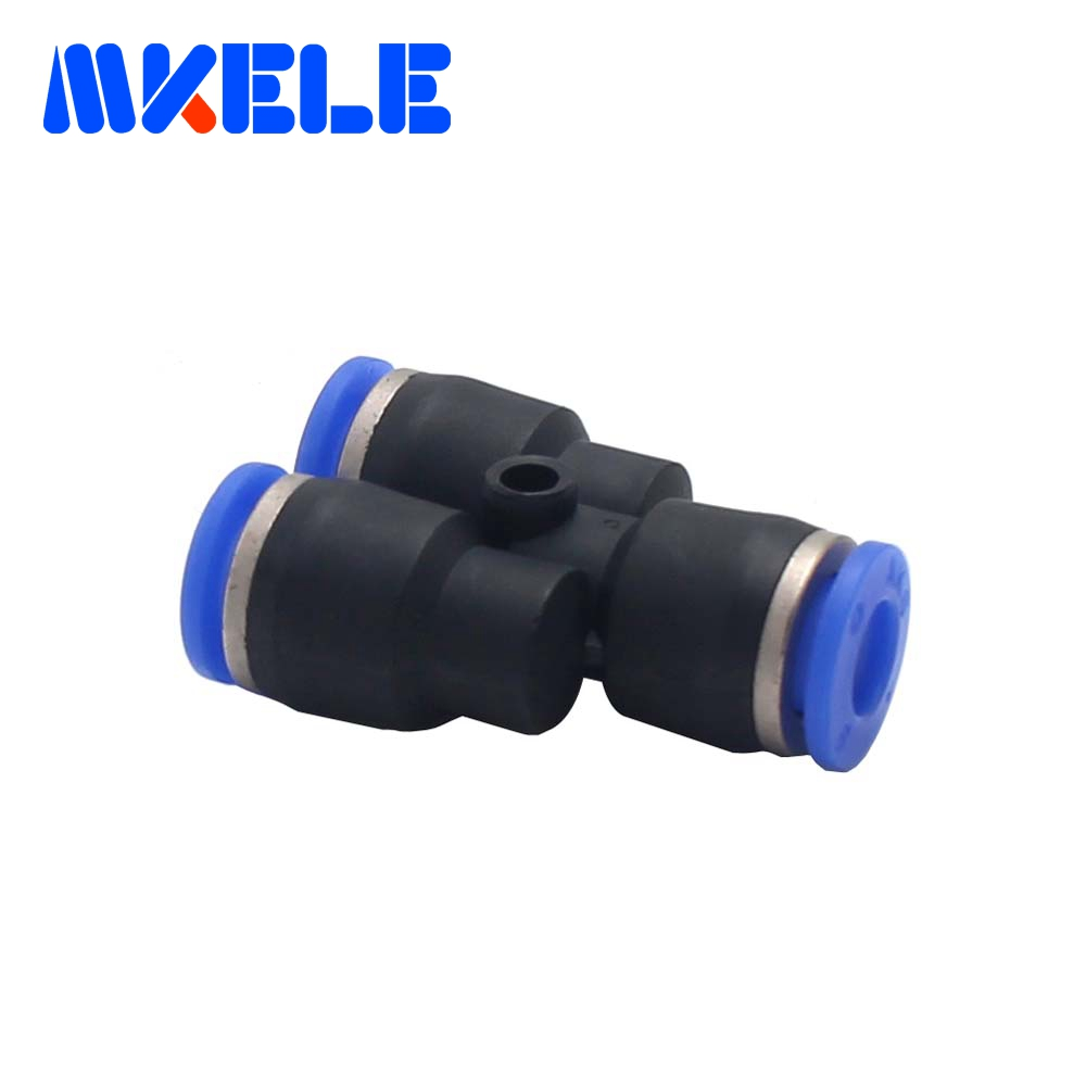 Plastic air line fittings 3 Way Y TypePY 6mm plastic pipe connectors with lowest price High quality 1pcs Free shipping in Pneumatic Parts from Home Improvement