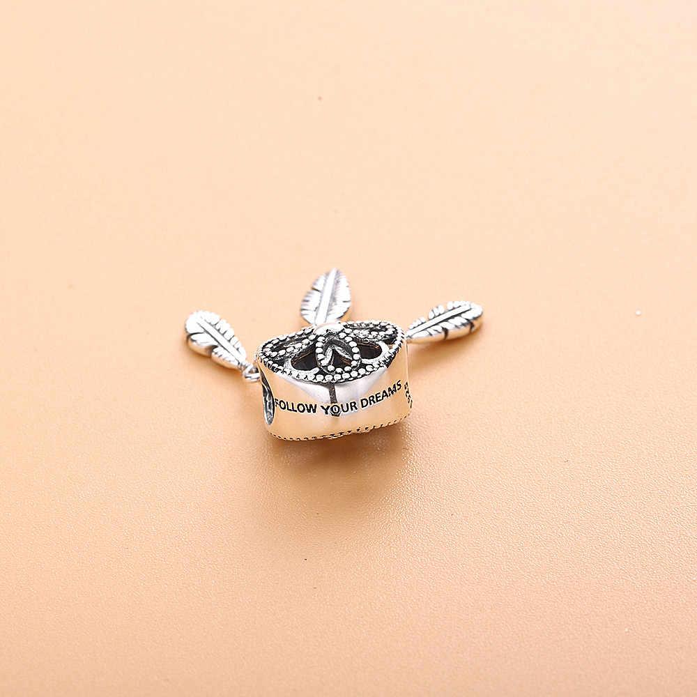 Lovecabin 2019 летние душевные Ловец снов Висячие Подвески из стерлингового серебра 925 пробы ювелирные изделия подходят бусины браслет