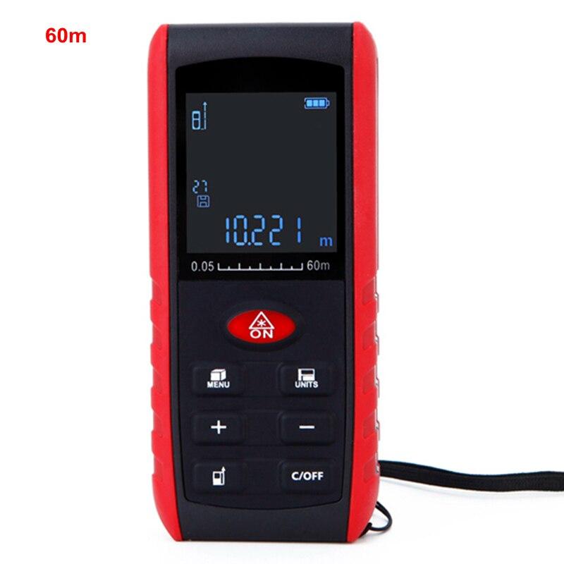 Digital Laser Distance Meter Rangefinder Diastimeter 60m Leveling Practractor Area Volume Measurer Pythagorean Calculation LCD  цены