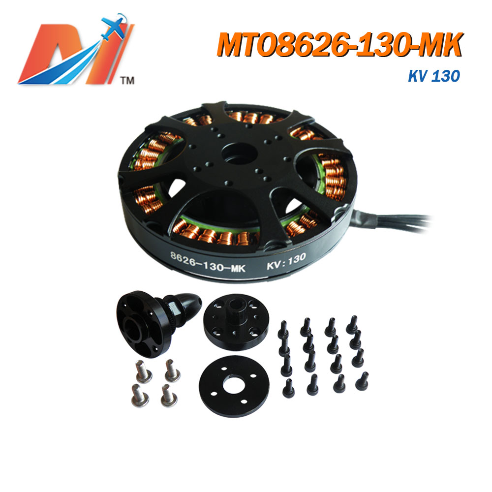 Maytech <font><b>130KV</b></font> 8626 <font><b>brushless</b></font> outrunner electric <font><b>motor</b></font> U8 size for rc drone hexacopter with 30% off (2pcs) image