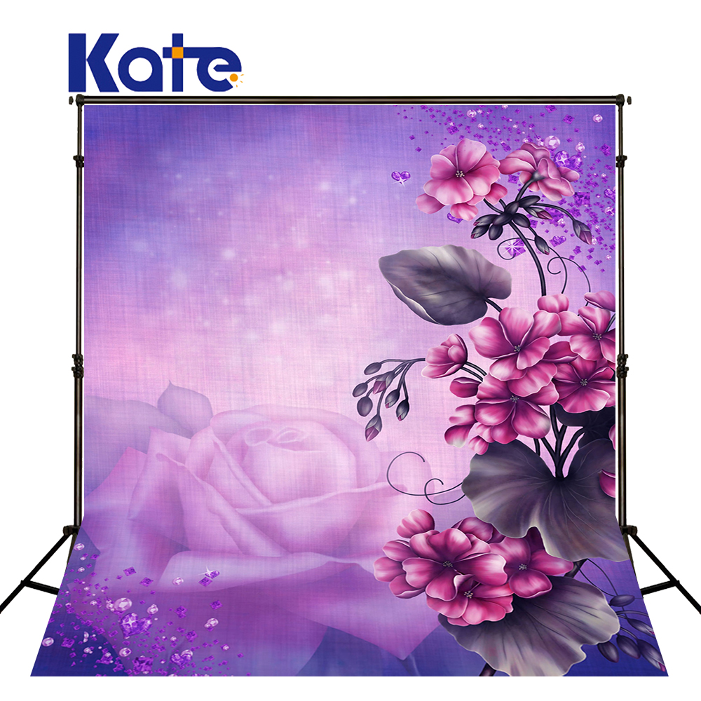 5*6.5Ft(150*200Cm) Kate Purple Photography Backdrop Purple Star Flower   Backgrounds For Photo Studio metsan mts 150 purple