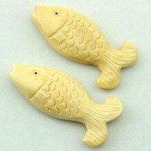 Кость Рыбы Череп Кулон 2 шт. 50*20 мм ручная резьба фотоэлемент для ожерелья и браслета