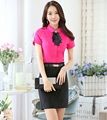 Ladies Formal Work Suits With Tops And Mini Skirt OL Styles Professional Business Work Wear Summer Outfits Skirt Suits