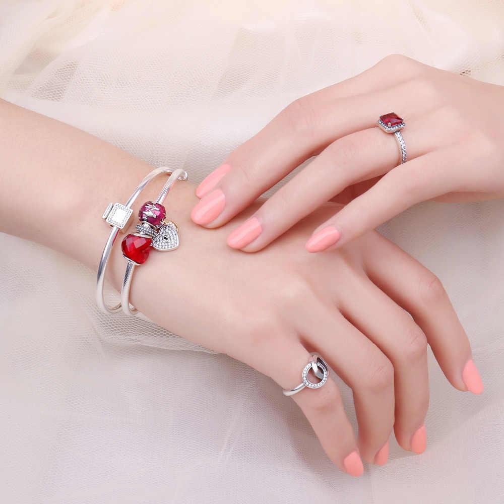 Jewelrypalace 925 เงินสเตอร์ลิงขวดน้ำหอม Cubic Zirconia ลูกปัด Charms Fit สร้อยข้อมือสำหรับของขวัญแฟชั่นเครื่องประดับปัจจุบัน