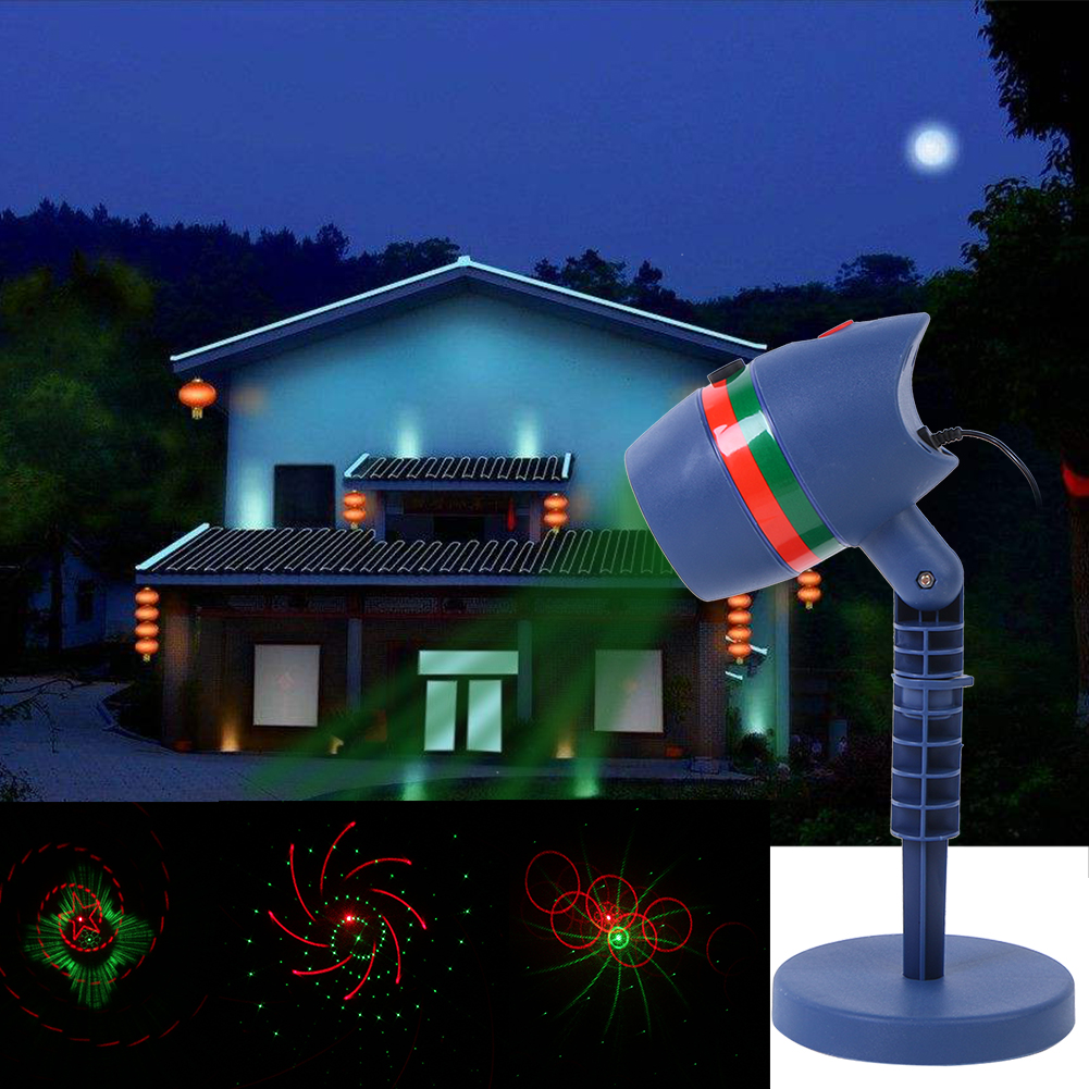 Outdoor Christmas Laser Light Projectors Waterproof Star Red And Green Led Spotlights For Garden