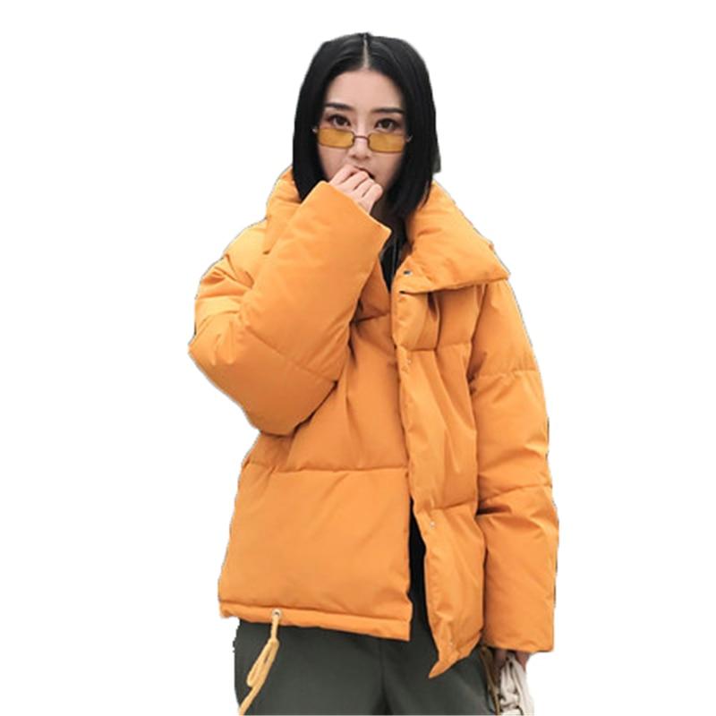 Big Size Women Jackets woman   parka   Winter 2018 female Jacket Warm winter cotton coat women Stand Collar Loose women's parkasJ971
